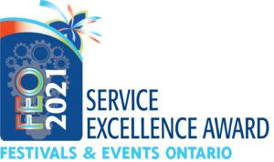 FEO 2021 Service Excellence Award badge