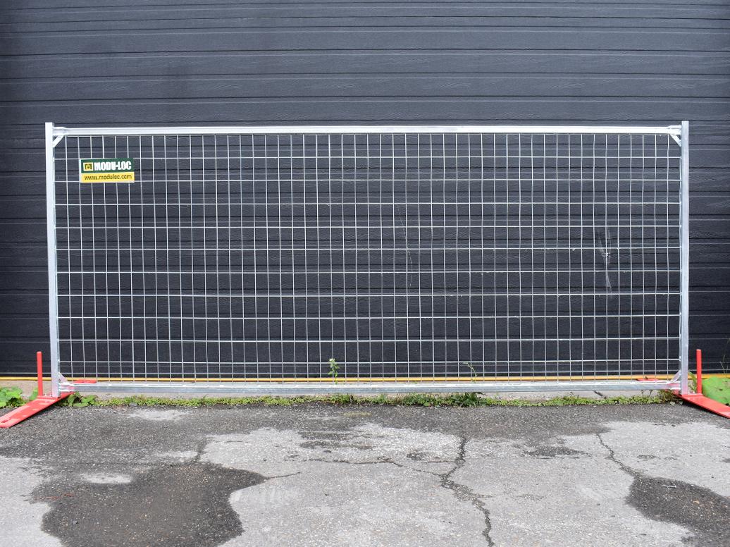 Panneaux de clôture en acier galvanisé de 4 pi