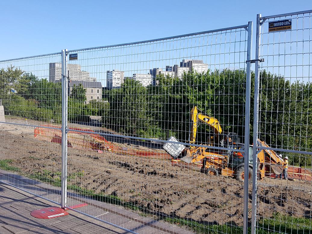 Panneaux de clôture en acier galvanisé de 8 pi